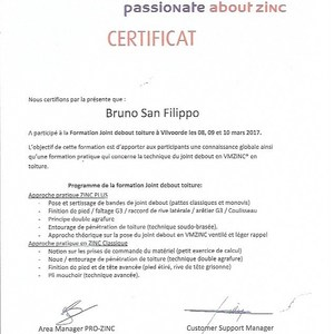 B.E.S.T. Toiture - Certificat